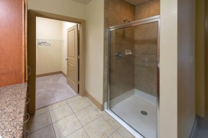 One Bedroom Apartments in Houston, Texas - Apartment Enclosed Shower & Walk-In Closed
